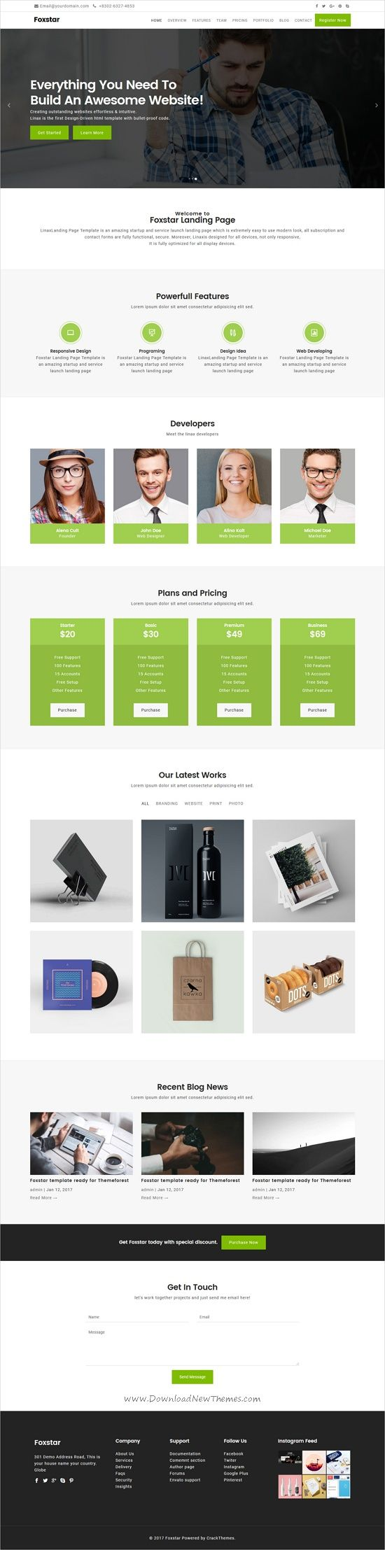 Foxstar is clean & professional design responsive HTML #bootstrap template for #corporate stunning website with 50+ niche homepage layouts download now➩ https://themeforest.net/item/foxstar-multipurpose-landing-page-pack-with-page-builder/19761185?ref=Datasata