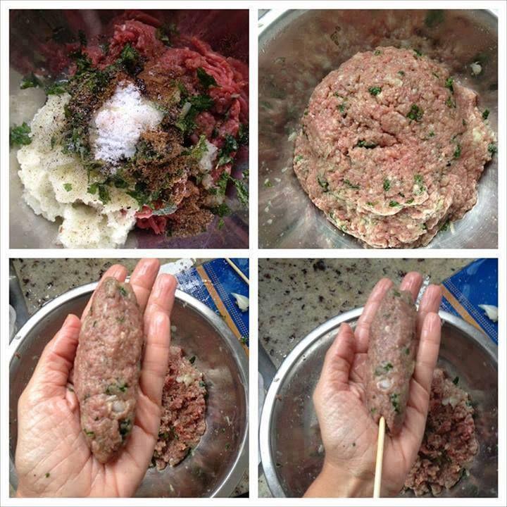 Siga passo a passo nossa receita de Kafta (carne moída no espeto) Explicamos de forma simples e rápida como fazer esse delicioso prato Kafta (carne moída n