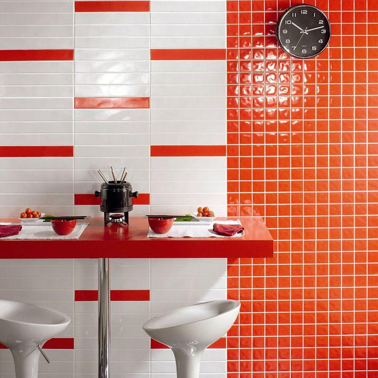 Bano Decoracion Naranja Diseno Cocinas Azulejos Interiores