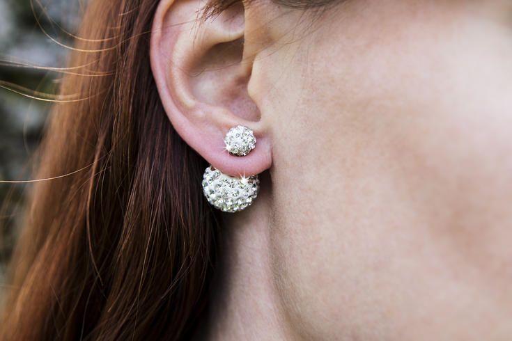 Náušnice oboustranné s krystalky 159 Kc www.sperkymoda.cz #sperkymoda #fashion #sperky #jewellery #jewelry #fashionjewellery #bizu #earrings #moda #czech #czechgirl