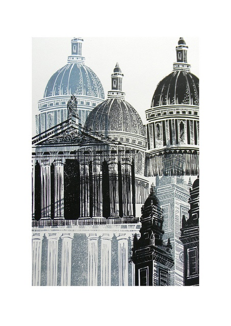 St Paul's linocut print by Mangle Prints, via Flickr