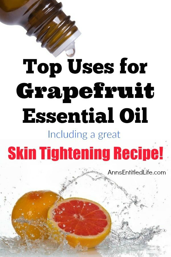 Top Uses for Grapefruit Essential Oil. Best and most popular uses for Grapefruit Essential Oil. From topical skin care to internal capsules, Grapefruit Essential Oil has many wonderful uses! Also listed is a recipe for a great skin tightening formula that uses this amazing, citrus essential oil.