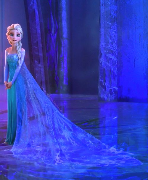 I really want the bridal stores to make a Disney line of dresses from the Princess movies because I am in love with Elsa's dress.