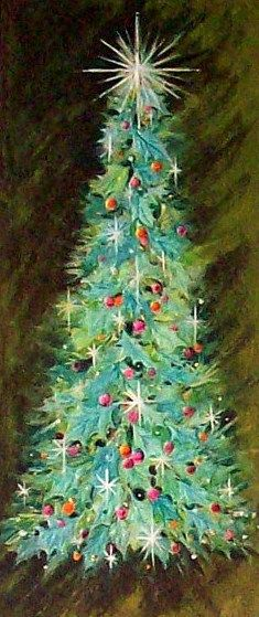 1960s Christmas Tree Card