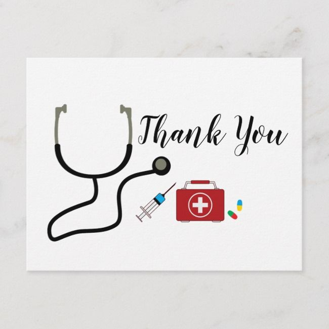 Doctor Nursing Medical Thank You Card Zazzle Com Cards