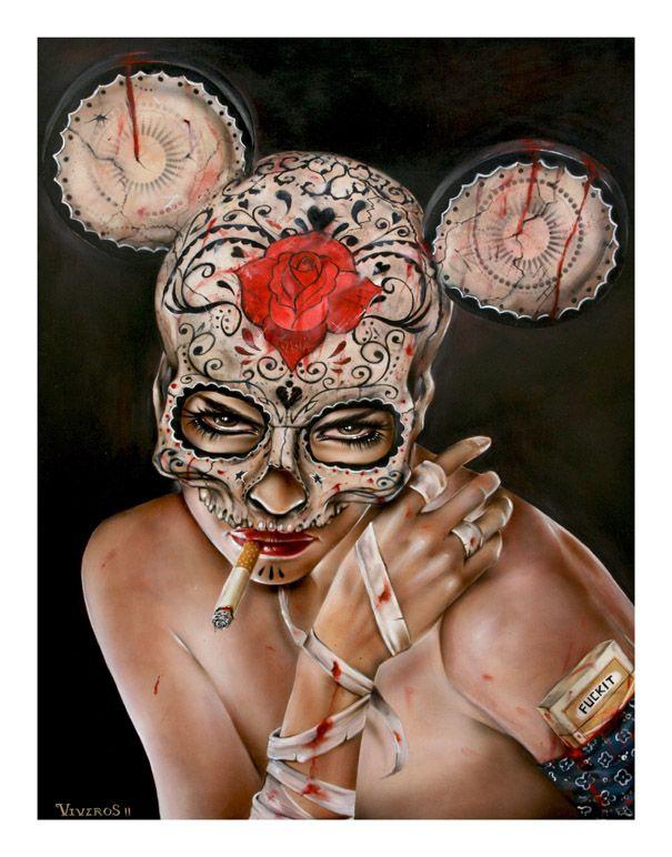 Brian M. ViverosArtists Brian, Brian Viveros, Sugar Skull, Brianvivero, Artsy Fartsy, Viveros Artworks, Brian Mvivero, Day, Awesome Art