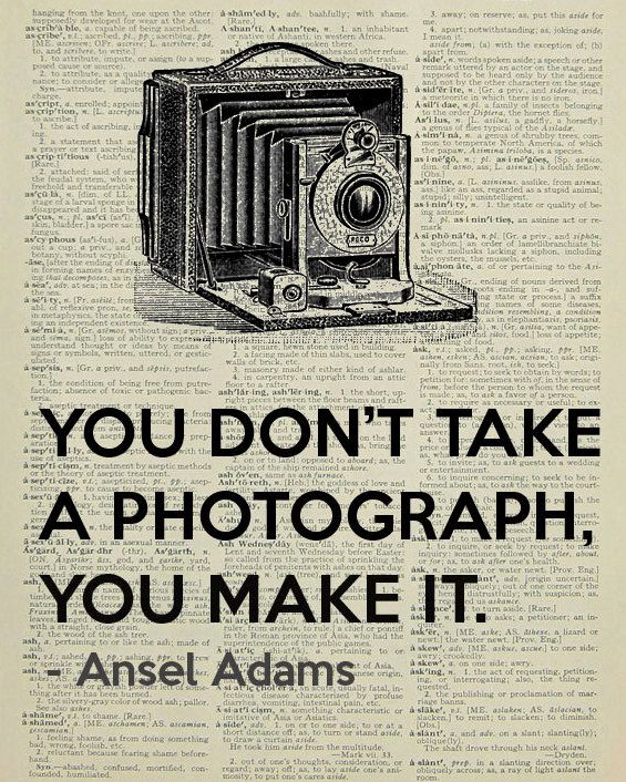 Victorian camera with Ansel Adam quote printed by LePapierGallery, $7.99