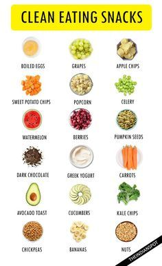 25 CLEAN EATING SNACKS