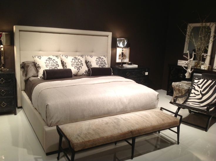 Transitional Style Upholstered Bed - see not all uph. beds are traditional!