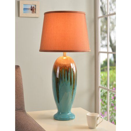 kenroy home tucson table lamp teal ceramic blue in 2019 products rh pinterest com
