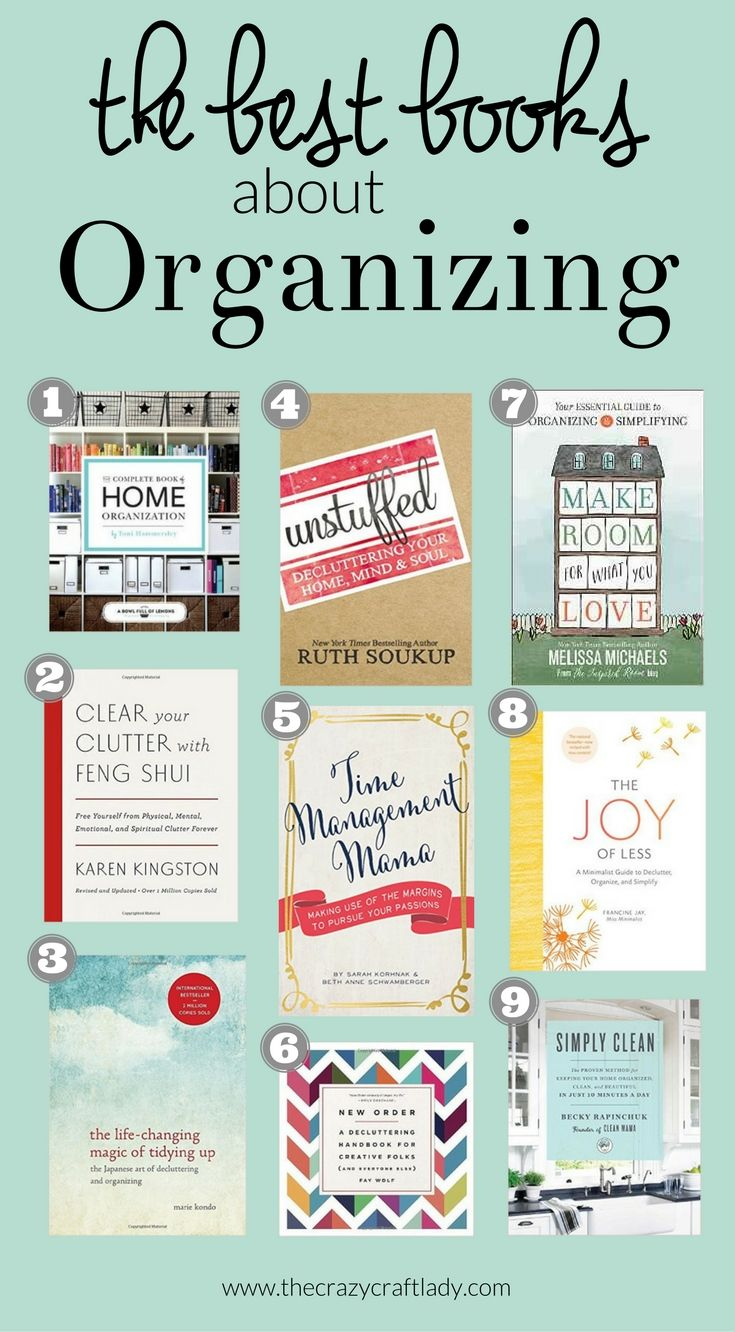 The Best Organizing Books - Recommended reading to help you get organized and declutter your life and home