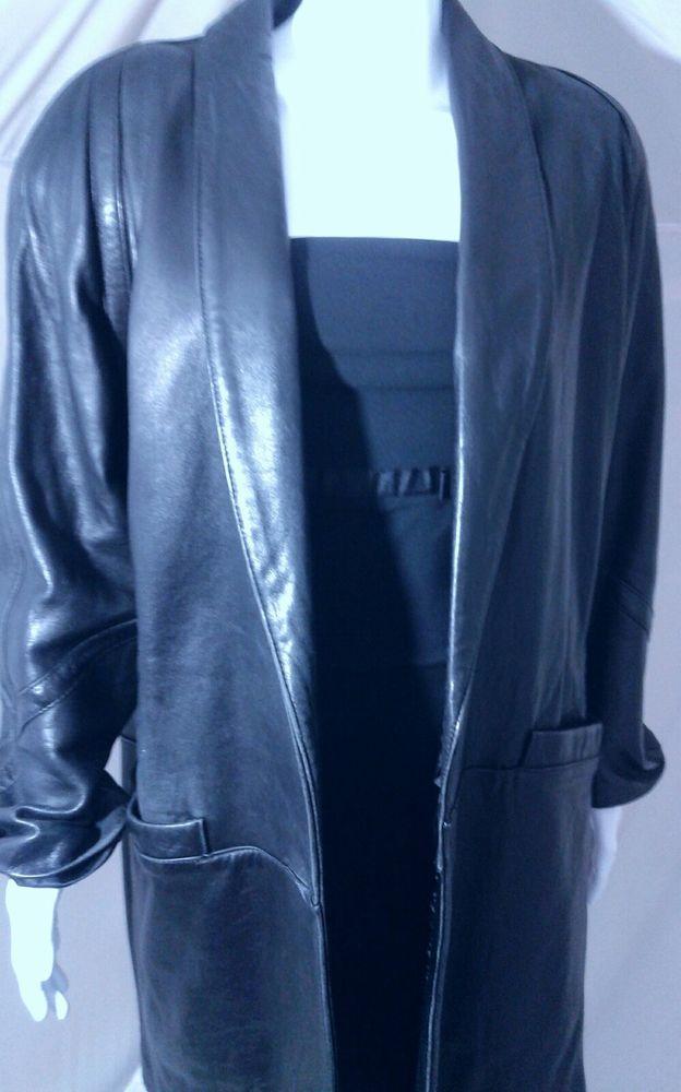 c7fd33cb3ae7 JACQUELINE FERRAR Black Leather Jacket Women s Large   Clothing, Shoes    Accessories, Women s Clothing, Coats   Jackets   eBay!   Coats   Jackets!