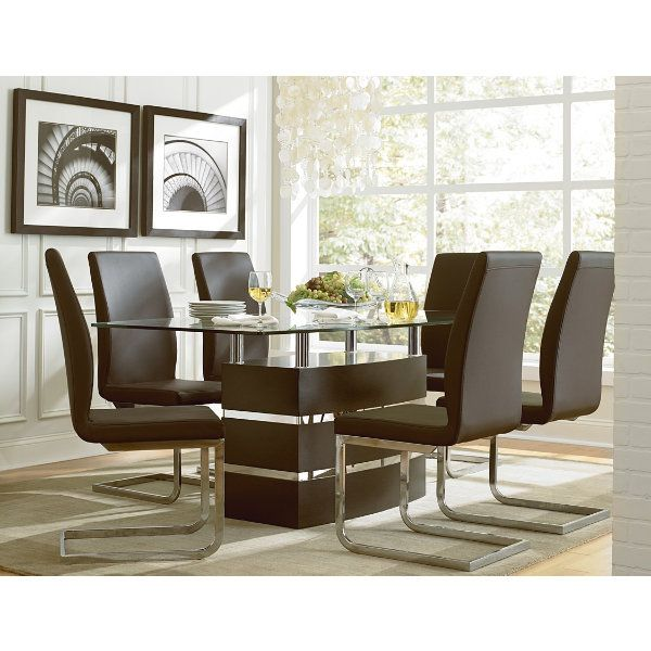 Beautiful Contemporary Dining Can Be Found Here In The Altair Collection Modern Room ArtGlass TableDining