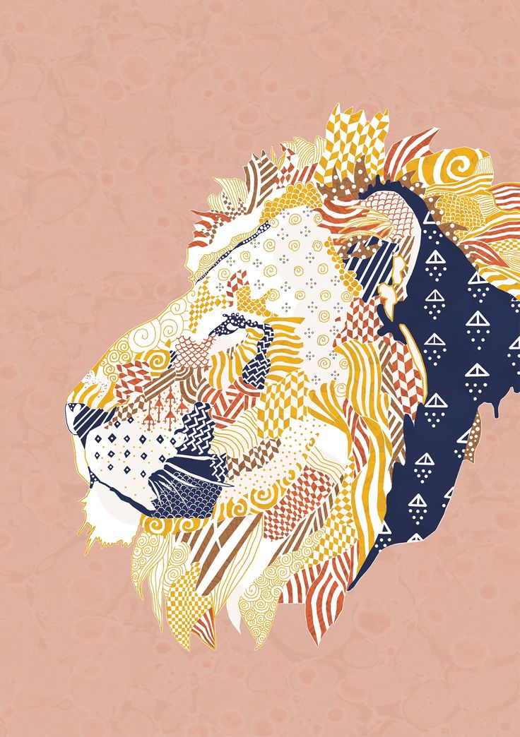 Natalia Segerman original illustrations - Lion