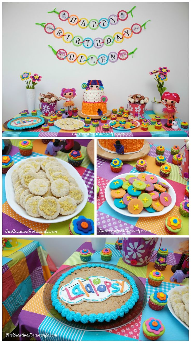 Cookie decorating party ideas - Lalaloopsy Birthday Party I Need That Tablecloth