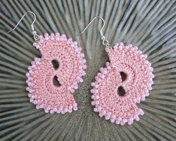 Lovely just lovely, #crocheted double fun #earrings #pattern. . . .