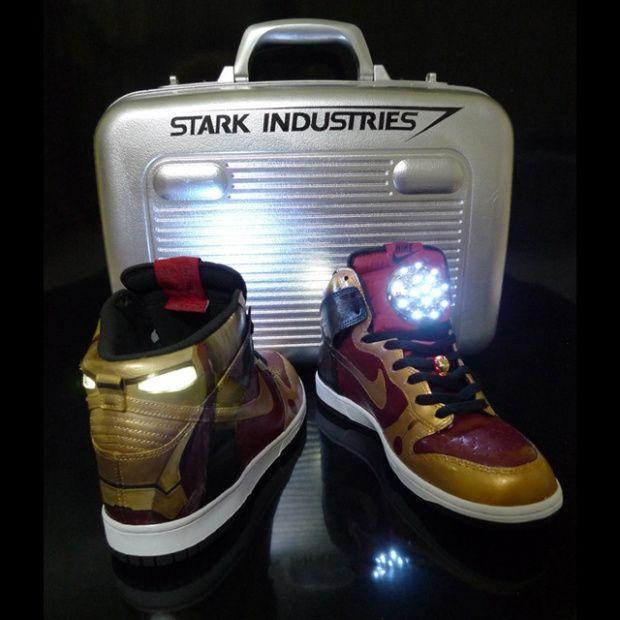 Iron Man sneakersGeek, Man Nike, Nike Dunks, Discount Nike, Iron Man, Ironman, Sneakers, Man Shoes, Stark Industrial