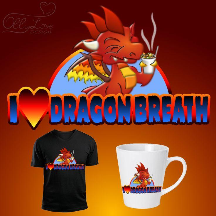 #love #dragon #breath #dragon_breath #nitrogen #liquid #nitrogen_liquid #candy #candies #dessert #sweet #enjoy #joy #smoke #flames #red #wings #teeth #happy #heart #fire #blue #tshirt #design #threadless #cartoon #funny #vector