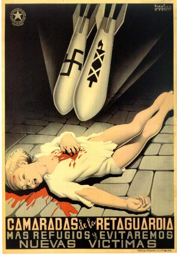 Anti-Fascist Civil War Poster, Spain, ca. 1936-1939