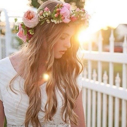 boho flowers , hair, curls, waves #hair #beauty Visit www.makeupbymisscee.com for hair and beauty inspiration