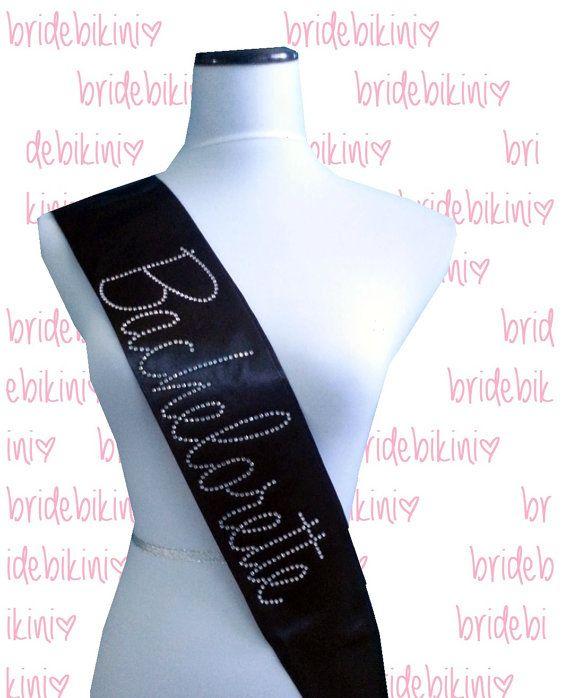 Bachelorette Sash. Bride Sash. Satin Sash. Bride To by BrideBikini, $13.95