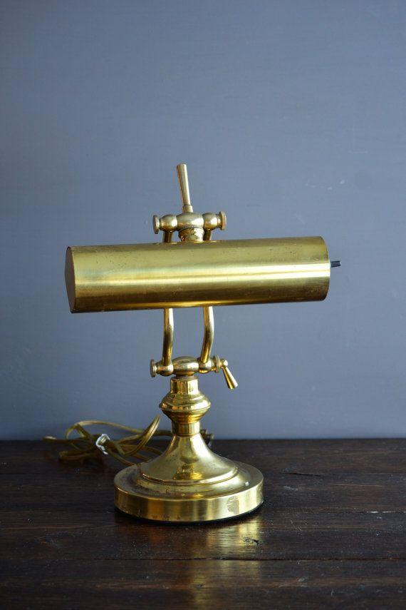 Brass Desk Lamp Swivel Head Industrial Lighting