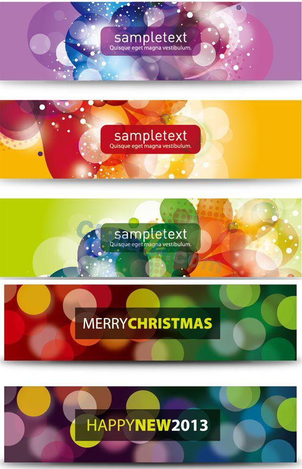 Dream bright banner vector templates