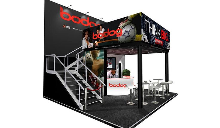 5 x 4 double deck exhibition stand design for Symbolis