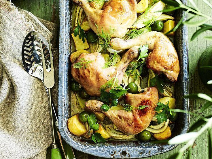 <b>La ricetta</b> : pollo arrosto alle olive
