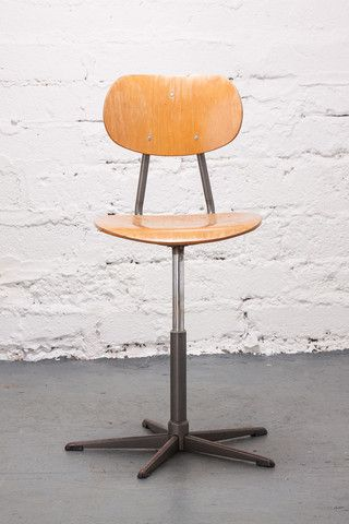 Tall Wooden Swivel Chair. If you like this check out our shop http://industrialthings.com/