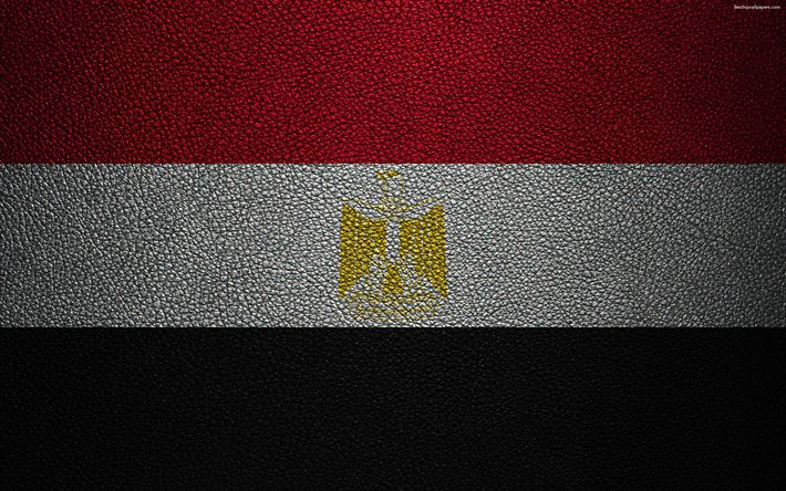 Download wallpapers Flag of Egypt, leather texture, 4k, Egyptian flag, Africa, flags of the world, African flags, Egypt