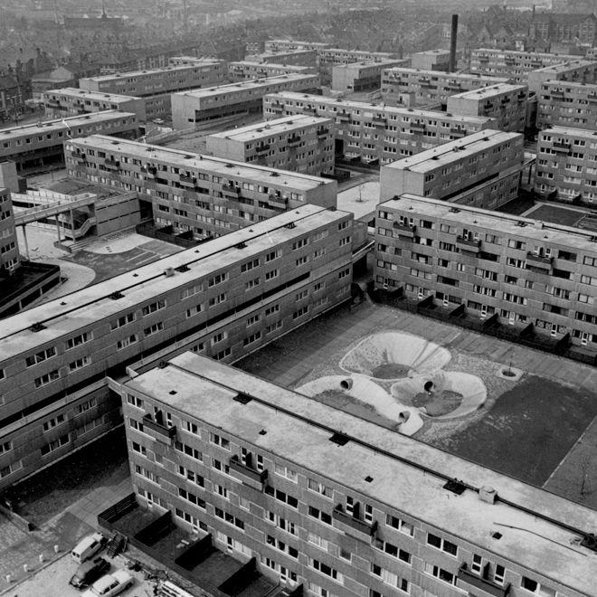 Hyson Green Flats, Nottingham, 1970s.