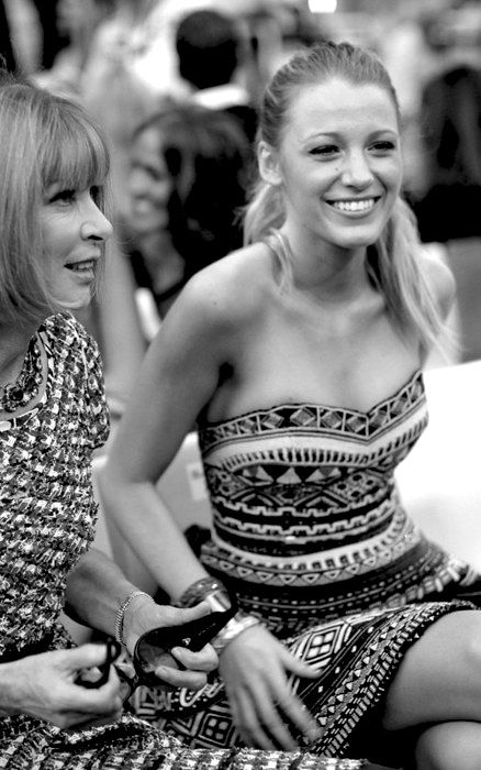 The amazing Blake Lively sitting front row with Anna Wintour