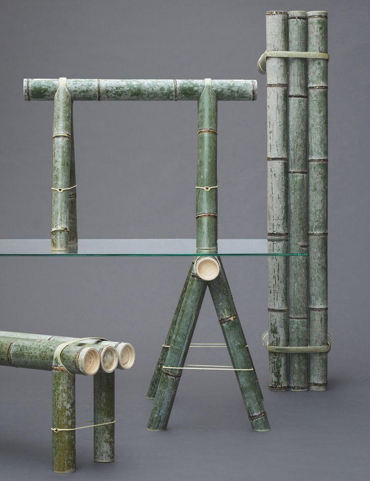 stefan diez soba bamboo bench japan creative designboom