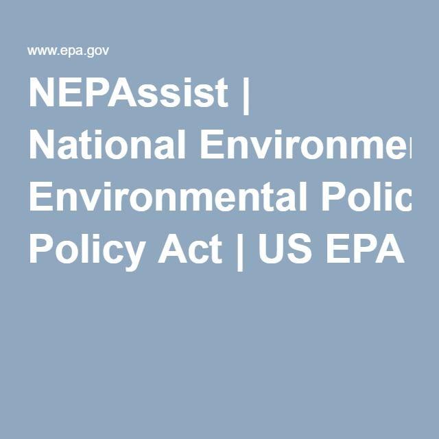 NEPAssist | National Environmental Policy Act | US EPA