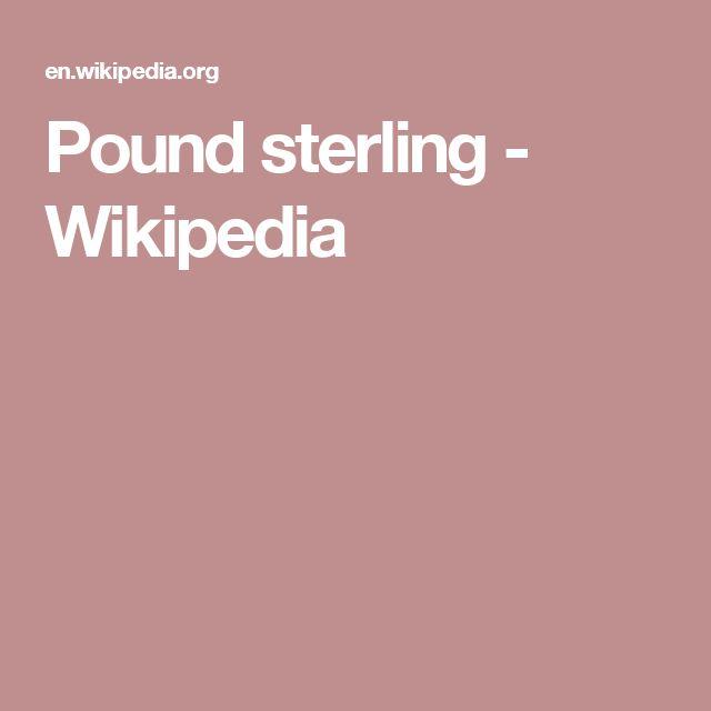 Pound sterling - Wikipedia