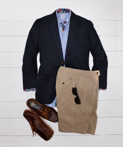 The Bosss BBQ look. From Brooks Brothers.   Men Fashion Style Classic Preppy dress-up-or-down