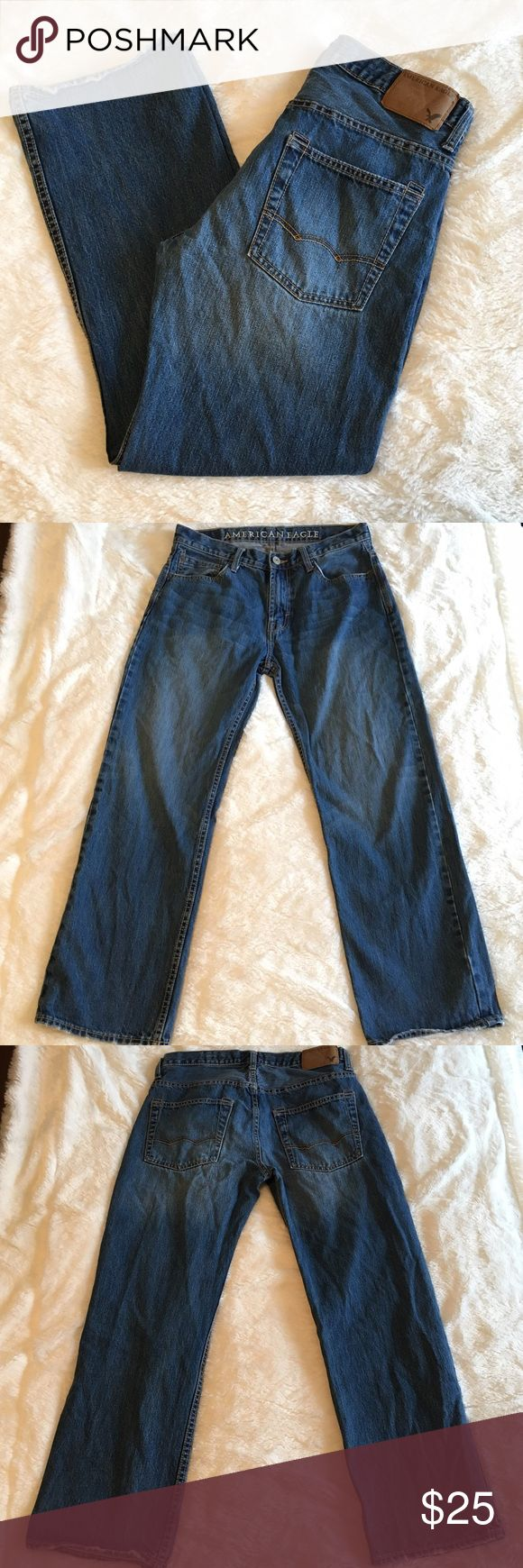 🆕Listing! Men's American Eagle Low & Loose Jeans Men's American Eagle Low and Loose Jeans. In great preloved condition. Minor fraying at hem. All else in excellent shape. Size 30x30. 100% cotton. American Eagle Outfitters Jeans Relaxed