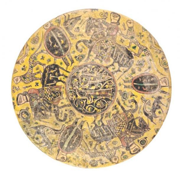 Persian Cavalry and Daylami Infantry on a Nishapur Plate, MNAO, Rome, 10th century