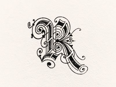 trendgraphy: Letter R by Steve Wolf Just to show how eccentric lettering can get.