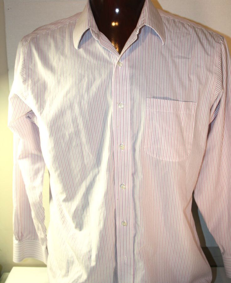 Brooks Brothers Button Front Mens Dress Shirt 16.5 X 34 Slim Fit Non Iron