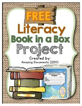 FREE - Literacy Book in a Box ProjectFeedback is appreciated for this free resource! It only takes 10 seconds! Thank you.Literacy book reports will go from bland to brilliant when your students are engaged in this fun-to-make project! This book project is appropriate for 2nd - 6th grade.Book reports help students improve reading comprehension and give them an opportunity to share their understanding of a story.