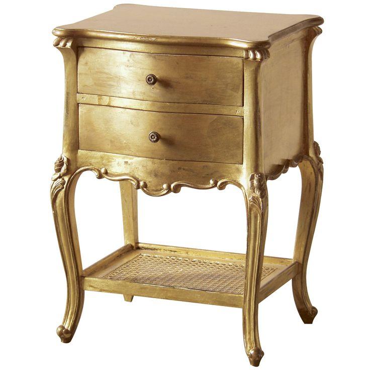 Palais De Versailles Gold Bedside Table Furniture