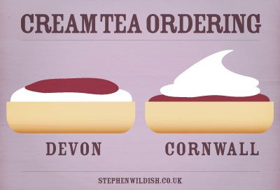I prefer mine the Cornwall way...