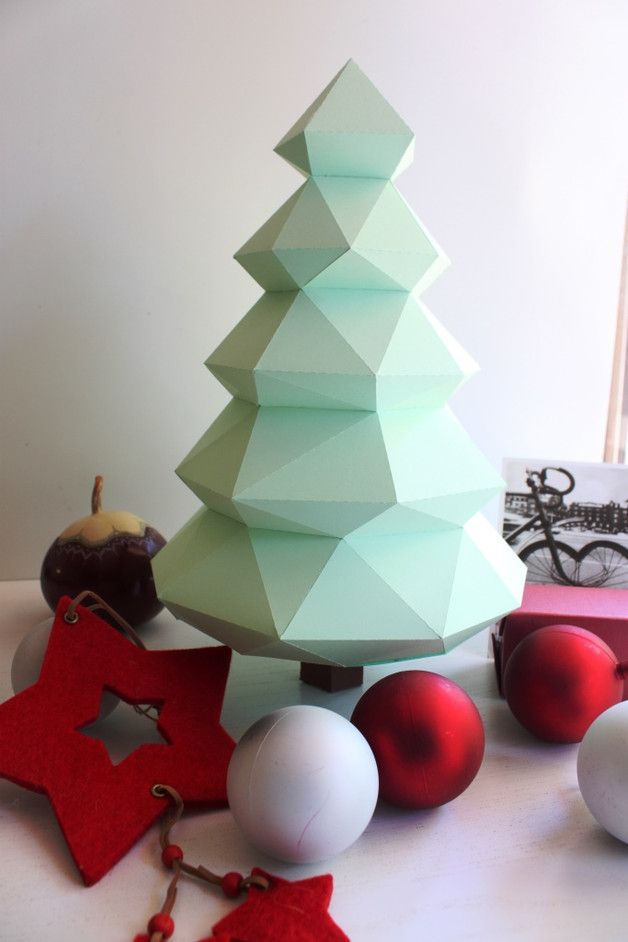 Living – Christmas tree, christmas decoration.Free shipping – a unique product by SculPaper on DaWanda