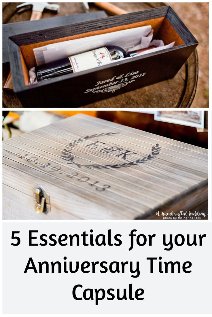 a DIY How-To for your First Anniversary Time Capsule! Such a romantic anniversary idea!