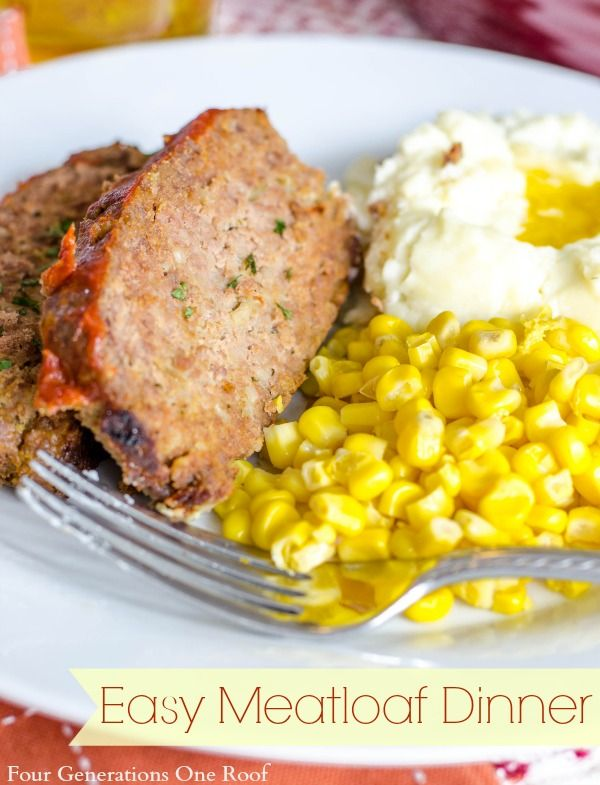 easy meatloaf {sugar free topping} - four generations one roof