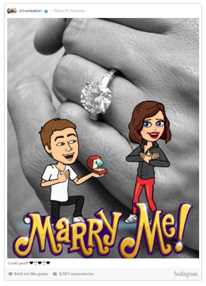 Miranda Kerr se comprometió con el fundador de Snapchat... ¡y así lo presumió en sus redes!
