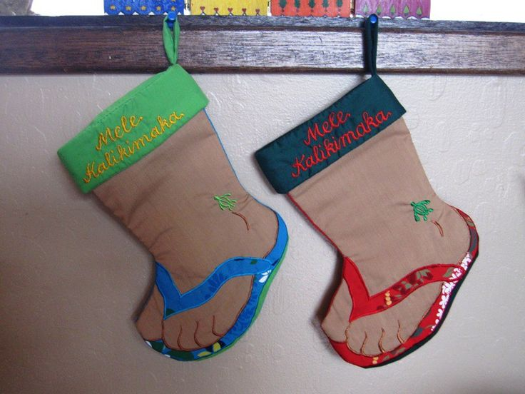 Hawaiian Christmas Stocking Slippah Holidays in Hawaii