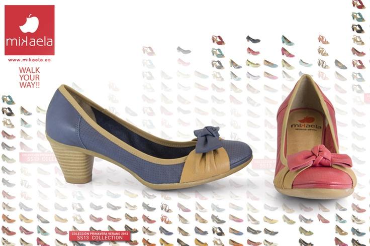 Un zapato cómodo, divertido y juvenil. Lo puedes encontrar en muchas tonalidades, incluso en negro o tonos tierra pero los colores alegran mucho más el verano ¿verdad?    Modelo 13001  Más zapatos: http://www.mikaela.es